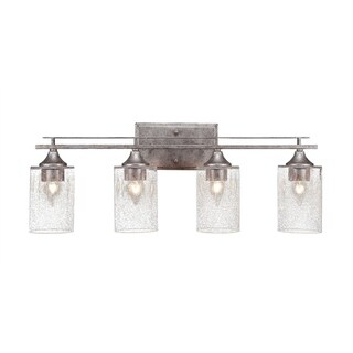 Uptowne 4-light Bath Bar with Clear Bubble Glass Shades
