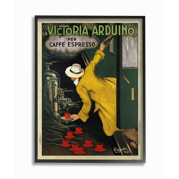 The Stupell Home Decor Collection La Victoria Arduino Cafe Espresso Framed Art Proudly Made In