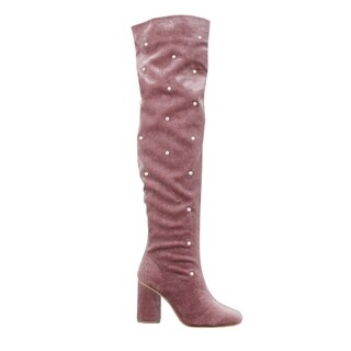 YOKI-HERI-38 Above the Knee Boots with Pearls