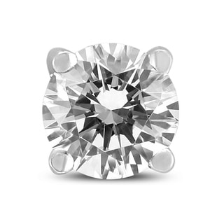 3 8 Carat Round Single Stud Diamond Earring In 14K White Gold
