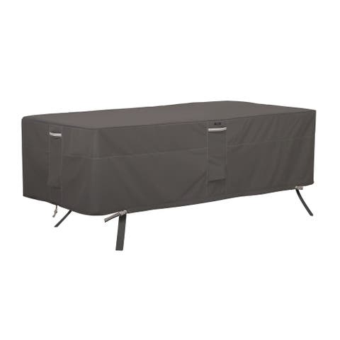 Classic Accessories Ravenna Water-Resistant 72 Inch Rectangular/Oval Patio Table Cover