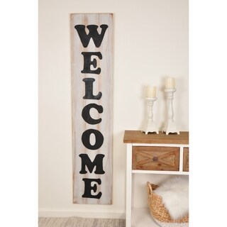 Farmhouse Wooden 5 Foot Welcome Sign - Multi-color