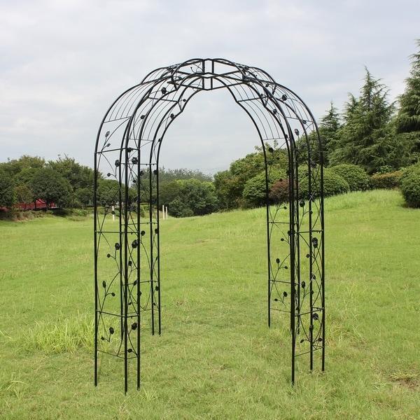 Shop Kinbor 4 Sides Outdoor Metal Garden Arch Arbor Garden