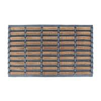"A1HC Rubber Brush Mat I Functional Boot Scrapper I Decorative Large Coir Entryway Doormat, 23.6""X37.4"", Beige/Black"