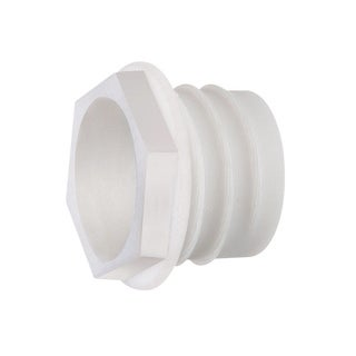 Cmple Arlington WB200 Non Metallic Plastic Threaded Drywall Wire Bushing - White - N/A - N/A
