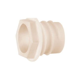 Cmple Arlington WB875 Non Metallic Plastic Threaded Drywall Wire Bushing - White