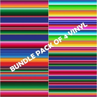 Serape Mexican Vinyl Sheets - pack of 4 Vinyl