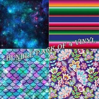 Patterns Vinyl Sheets BUNDLE PACK-D - Pack of 4