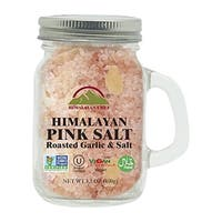Himalayan Chef Small Mason Jar Roasted Garlic Pink Salt, 3.53 Oz