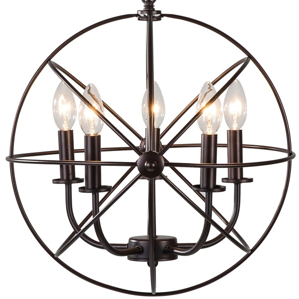 Orb Chandelier Light 14 Atomic Light Fixture Industrial: Shop Industrial 5 Light Hanging Farmhouse Orb Ceiling