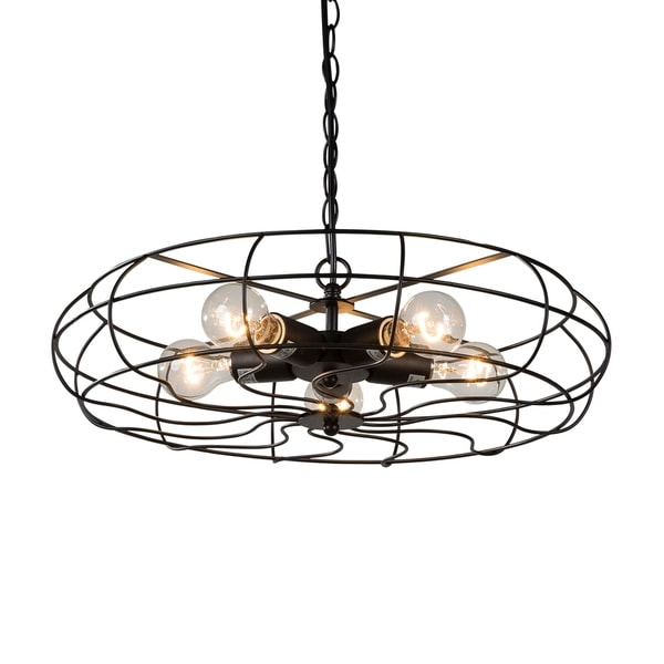 Black Chandelier Fan: Shop Vintage Hanging Industrial Chandelier 5 Lights Black