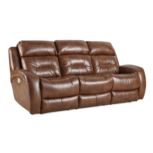 Shop Southern Motion S Cagney Power Headrest Double Reclining Sofa On Sale Free Shipping