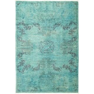 """Vibrance, Hand Knotted Area Rug - 4' 2"""" x 6' 1"""" - 4'2"""" x 6'1"""""""