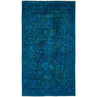 """Vibrance, Hand Knotted Area Rug - 5' 1"""" x 8' 3"""" - 5'1"""" x 8'3"""""""
