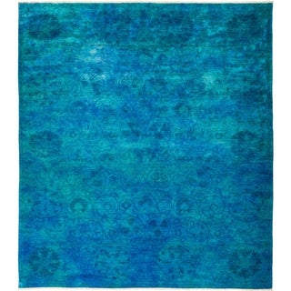 """Vibrance, Hand Knotted Area Rug - 8' 2"""" x 10' 0"""" - 8'2"""" x 10'"""