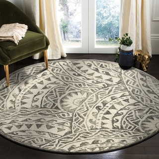 LR Home Hand Tufted Dazzle Aztec Ivory/ Grey Wool Rug
