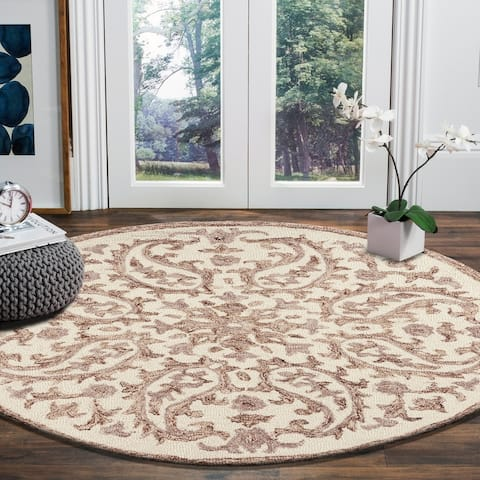 LR Home Hand Tufted Dazzle Ivory/ Red Wool Rug