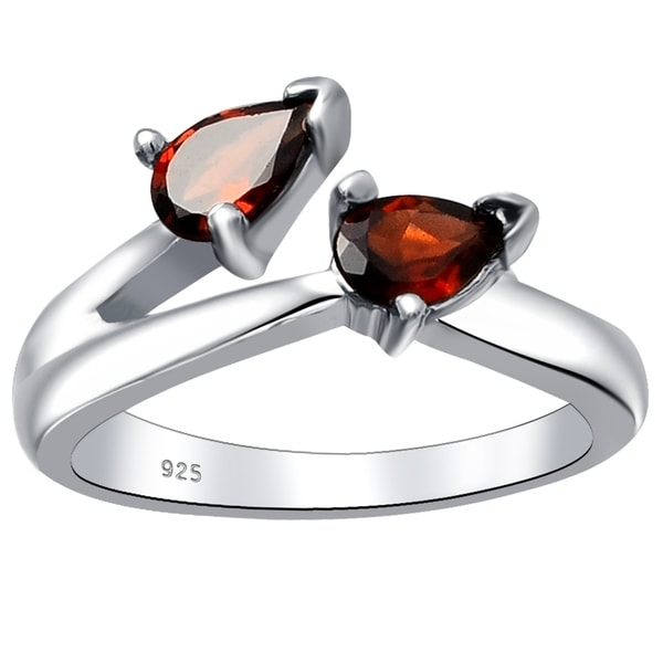 Jewelry & Watches 5 Ct Cushion Cut January Birthstone Garnet Sterling Silver Solitaire Ring Engagement & Wedding