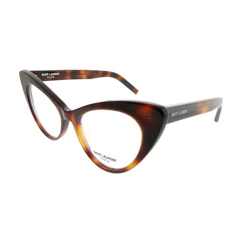 Saint Laurent Cat-Eye SL 217 New Wave 002 Women Havana Frame Eyeglasses