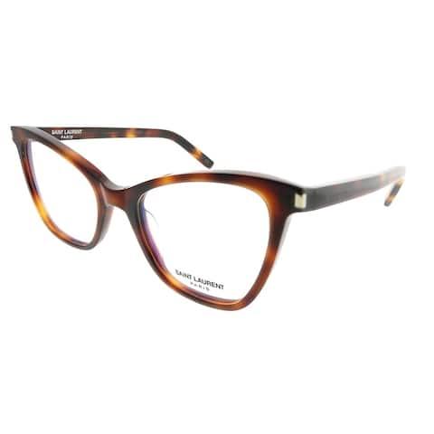 Saint Laurent Cat-Eye SL 219 New Wave 002 Women Havana Frame Eyeglasses