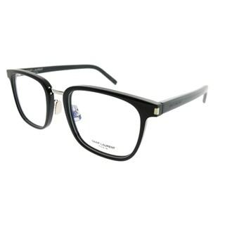 Saint Laurent Square SL 222 Classic 006 Unisex Black Silver Frame Eyeglasses