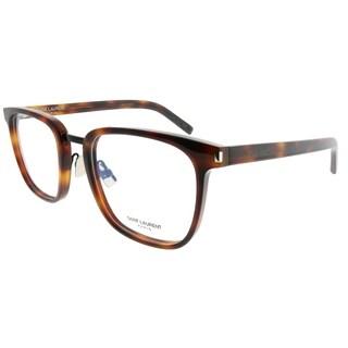 Saint Laurent Square SL 222 Classic 007 Unisex Havana Frame Eyeglasses