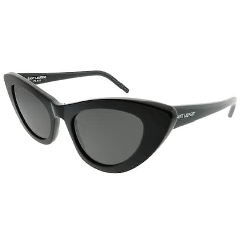 Saint Laurent Cat-Eye SL 213 Lily 001 Women Black Frame Grey Lens Sunglasses