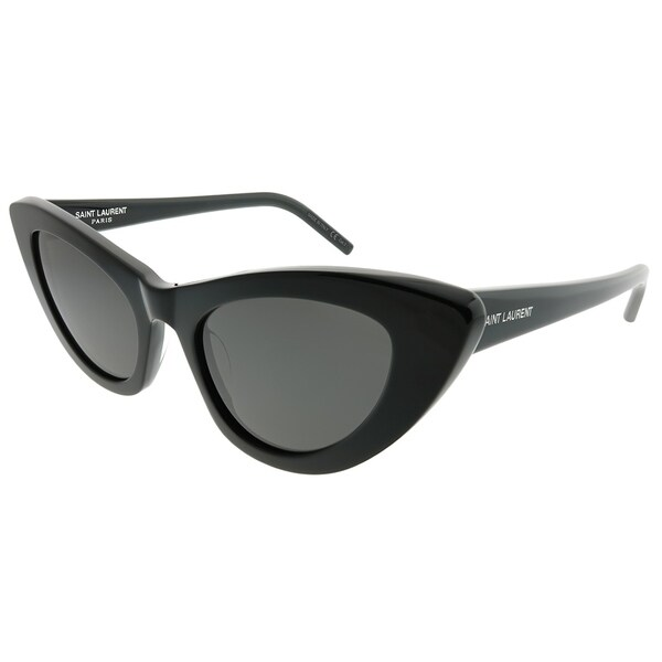 25234b4d16b2b Saint Laurent Cat-Eye SL 213 Lily 001 Women Black Frame Grey Lens Sunglasses