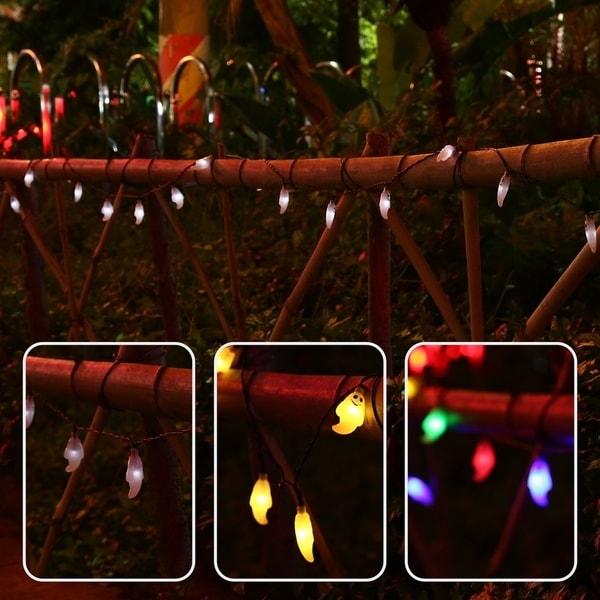 Shop 20 Led Ghost Solar String Lights Waterproof Outdoor