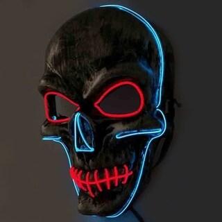Halloween Horrible Mouth-sewed Skull EL Masquerade Parties LED SlipKnot Mask