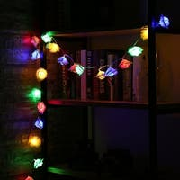 20LEDs White Rose LED String Lights for Christmas Decor Fairy Light Battery - white rose