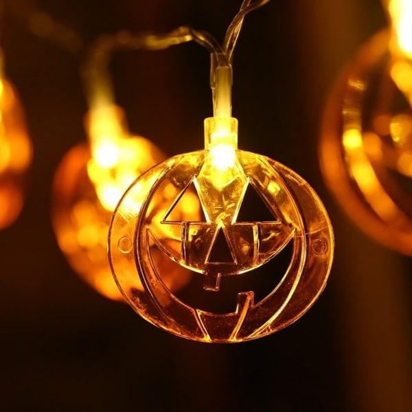 Shop Battery Operated 10 Led Pumpkin Fairy String Light Halloween