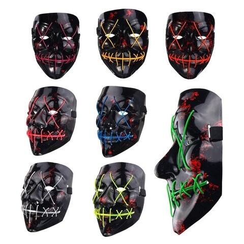Fun LED Light Up Flash Mask Halloween Party Night Club Festival Mask DJ Mask