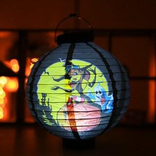 Unique Halloween Decoration LED Paper Light Hanging Lantern Lamp for Party