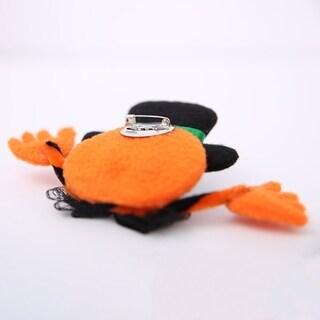 Halloween Supplies Flash Toy Flash Brooch Broken Badge Cartoon Shiny Chest