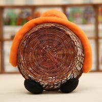 Cartoon Bar Handmade Durable Bamboo Rattan Knited Candy Cookie Basket