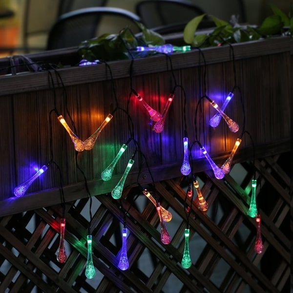low priced a1b44 2a93f Shop 20 LED Waterdrop Fairy Solar String Lights Outdoor ...