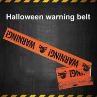 Halloween Warning Caution Tape Party Prop Decor Isolation Belt Sign Decoration