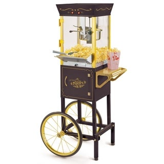 Nostalgia CCP510BK Vintage 8-Ounce Popcorn Cart - 53 Inches Tall - n/a