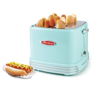 Nostalgia RHDT800AQ Four Hot Dogs & Buns Pop-Up Toaster - 4-slot