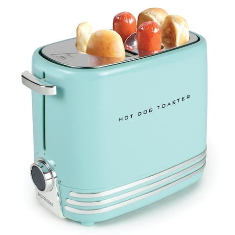 Nostalgia HDT900AQ Two Hot Dogs & Buns Pop-Up Toaster - 2-slot