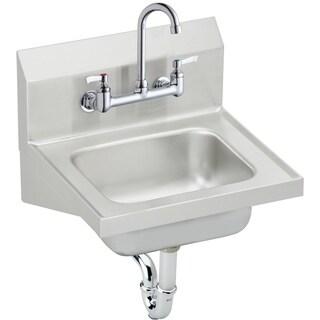 "Elkay 16-3/4"" x 15-1/2"" x 13"", Single Bowl Wall Hung Handwash Sink Kit CHS1716C Stainless Steel"