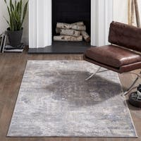 "Momeni Dalston Machine Made Polypropylene and Polyester Grey Area Rug - 8'6"" x 13'"