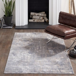 Momeni Dalston Machine Made Polypropylene and Polyester Grey Area Rug - 2' x 3'