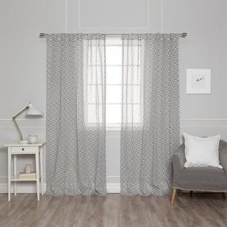 Aurora Home Seville Geometric Trellis Curtain Panel Pair