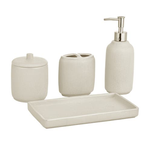 Five Queens Court Valerie Pearl Stoneware Bathroom Accessories