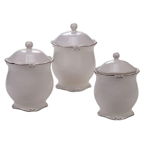 Certified International Vintage Cream 3-piece Canister Set