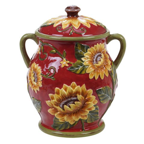 Certified International Sunset Sunflower Biscuit Jar