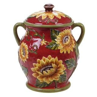 Certified International Sunset Sunflower Biscuit Jar