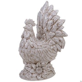 Certified International Toile Rooster 3-D Rooster Cookie Jar